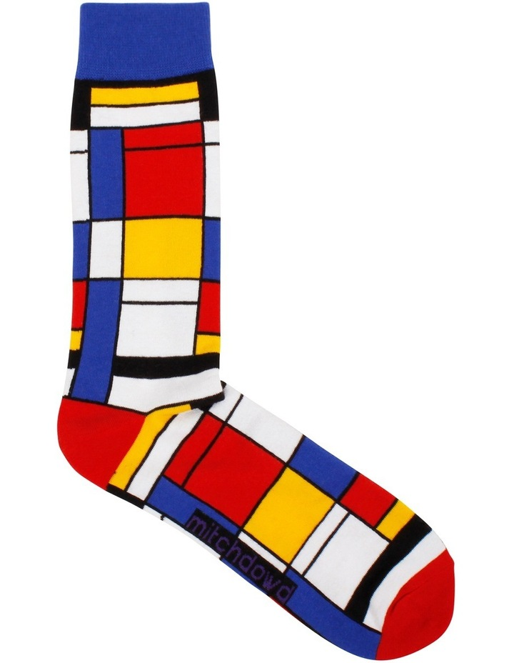 Composition Mondrian Art Sock image 1