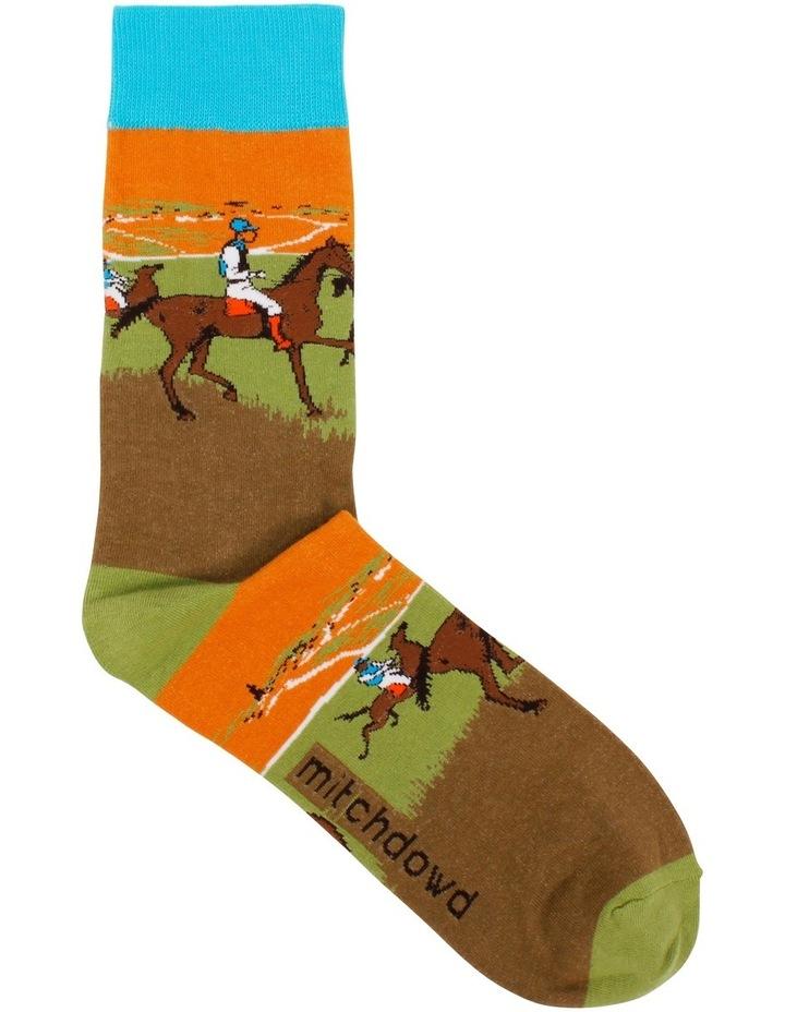 Race Horses Degas Art Sock image 1