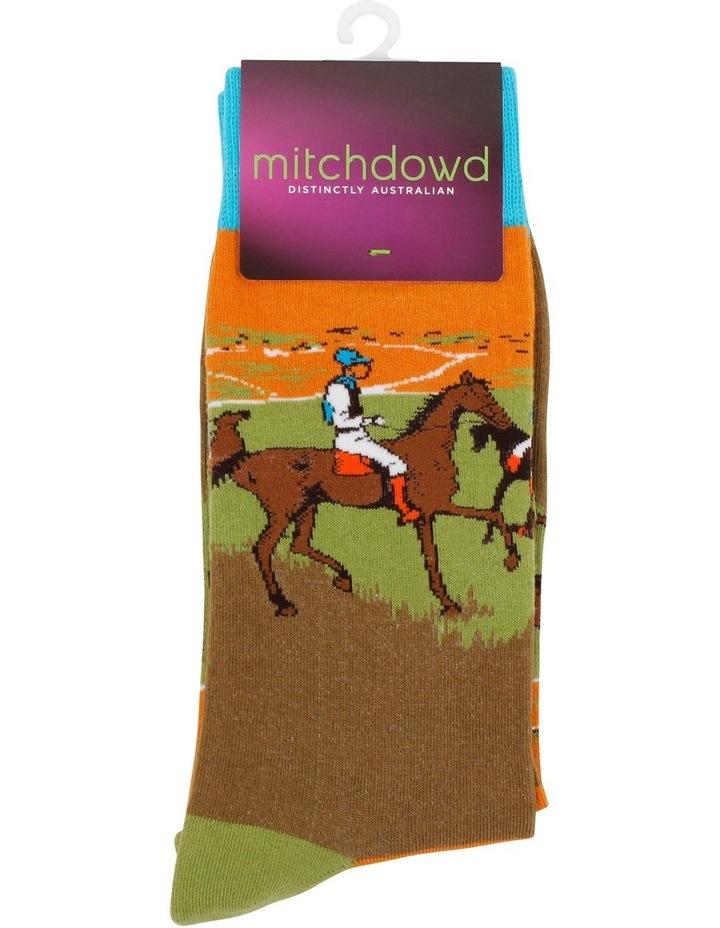 Race Horses Degas Art Sock image 2