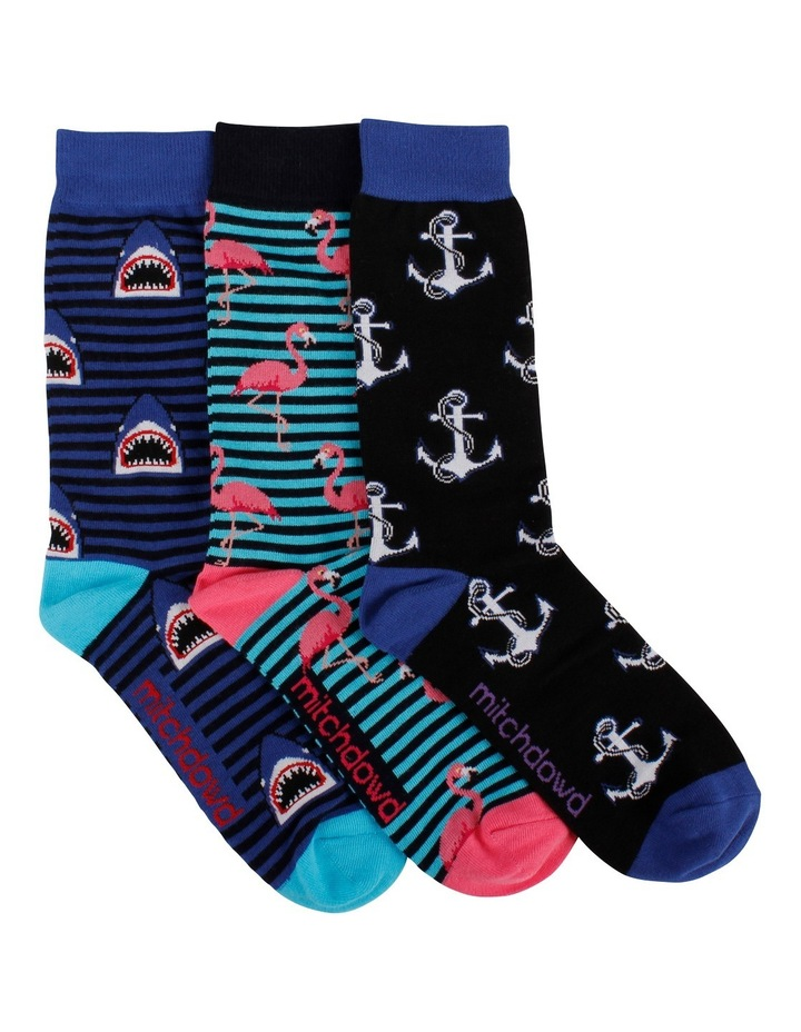 Fun Stripes 3 Pack Socks Gift Box image 1