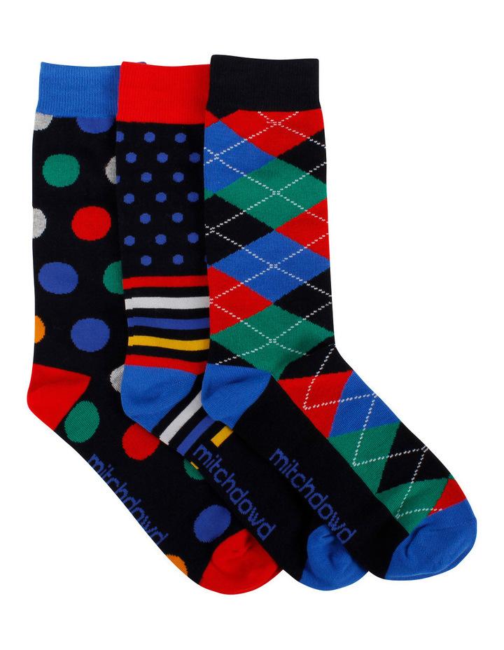 Dot Multi 3 Pack Socks Gift Box image 1