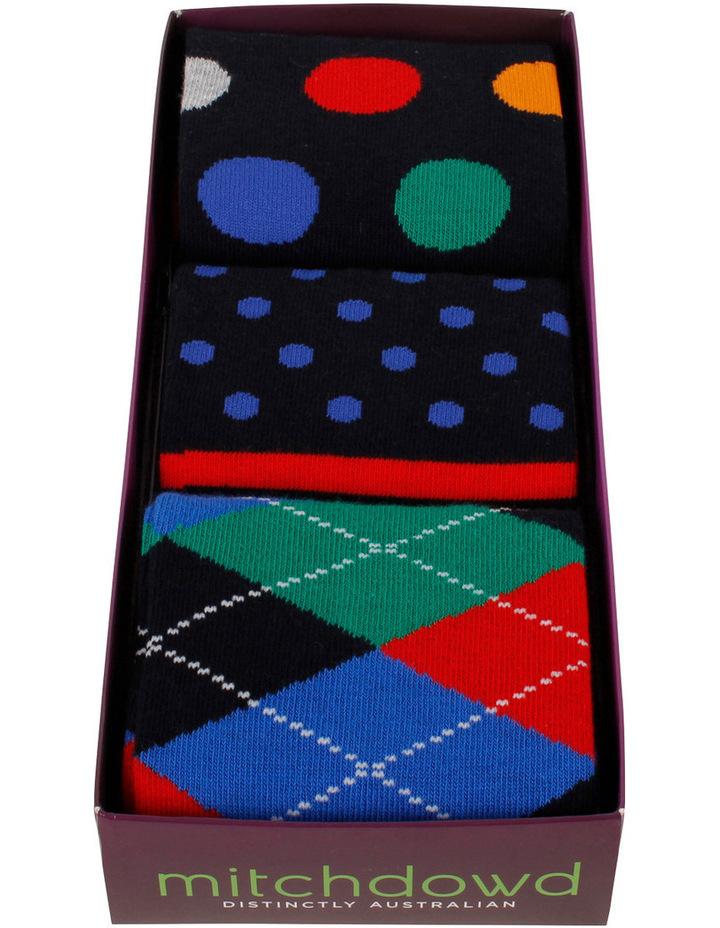 Dot Multi 3 Pack Socks Gift Box image 2