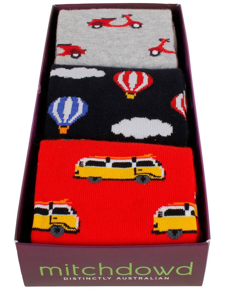 Travel 3 Pack Socks Gift Box image 2