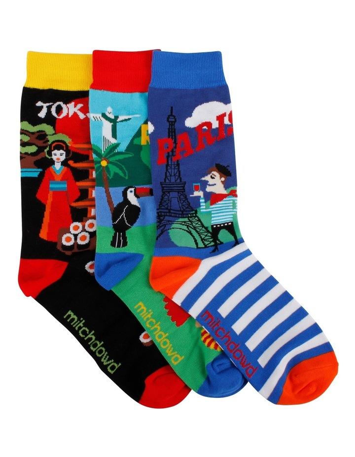 Destination 3 Pack Socks Gift Box image 1