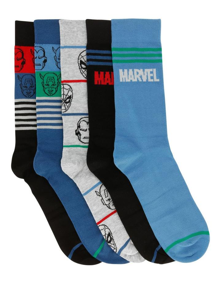 Men's 5 Pack Marvel Sock Gift Pack image 1