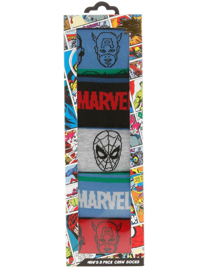 Men's 5 Pack Marvel Sock Gift Pack image 2