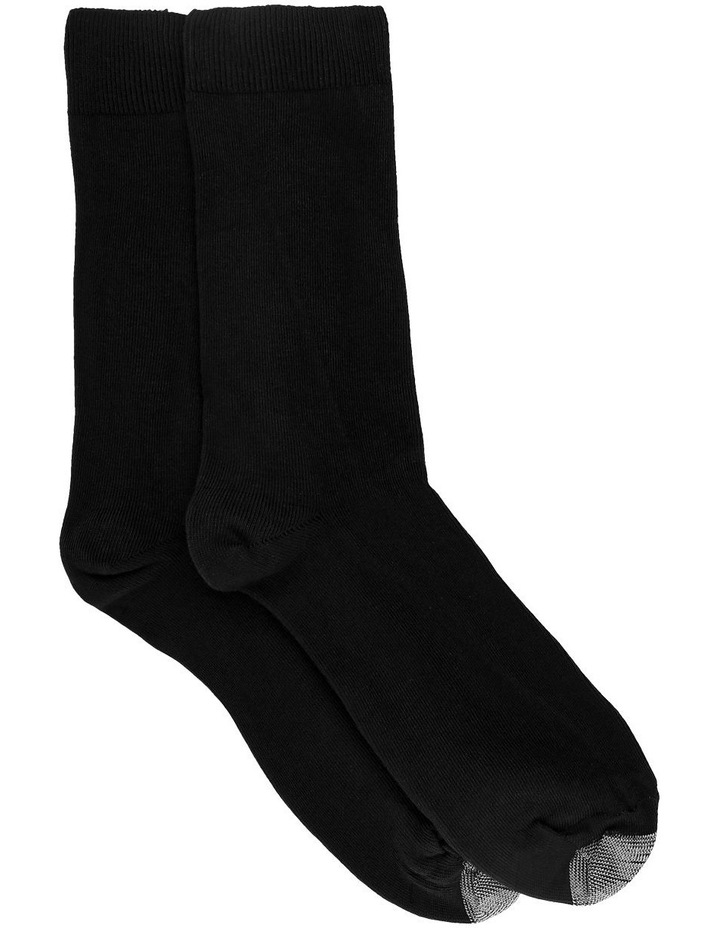 Black Loose Top 2 Pack Socks image 1
