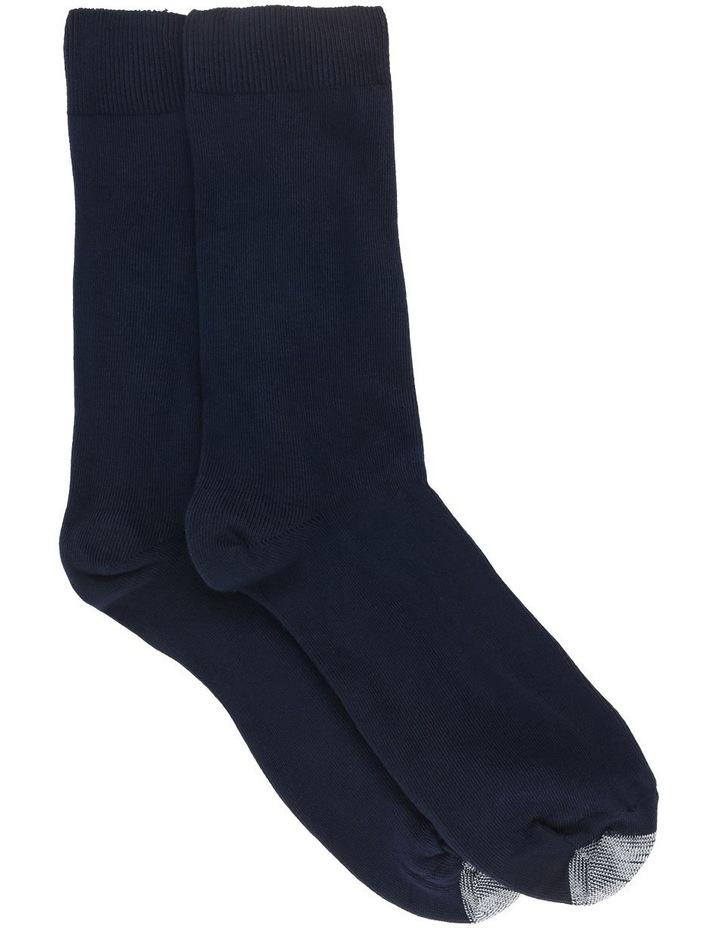 Navy Loose Top 2 Pack Socks image 1