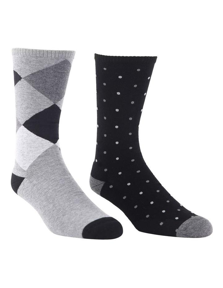 2 Pack Argyle Spot Health Sock image 2