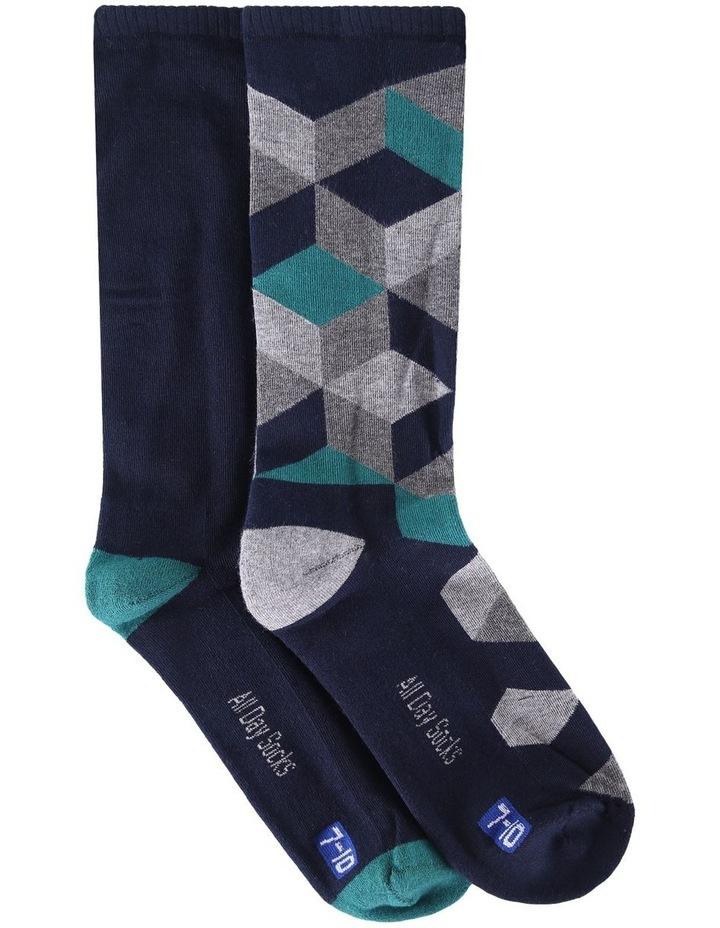 2 Pack Block Health Sock image 1