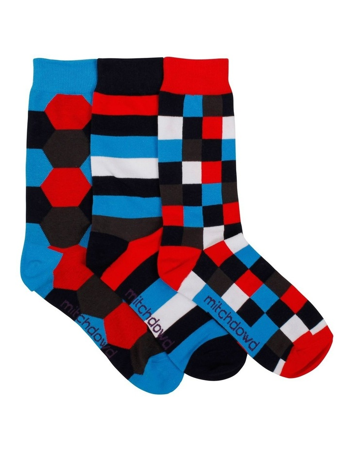 3 PK Socks Gift Box - Hex Stripe image 1