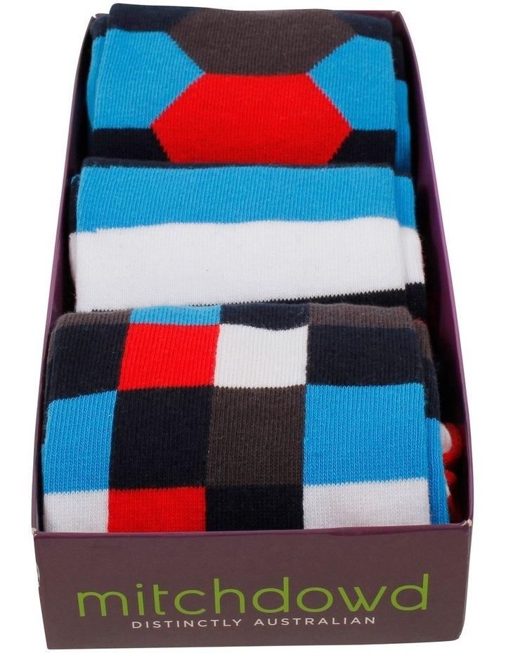 3 PK Socks Gift Box - Hex Stripe image 2