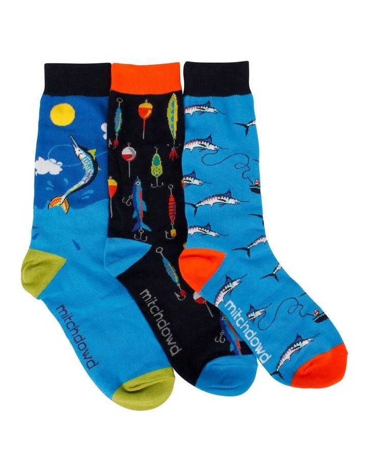 3 Pack Socks Gift Box - Fishing image 1