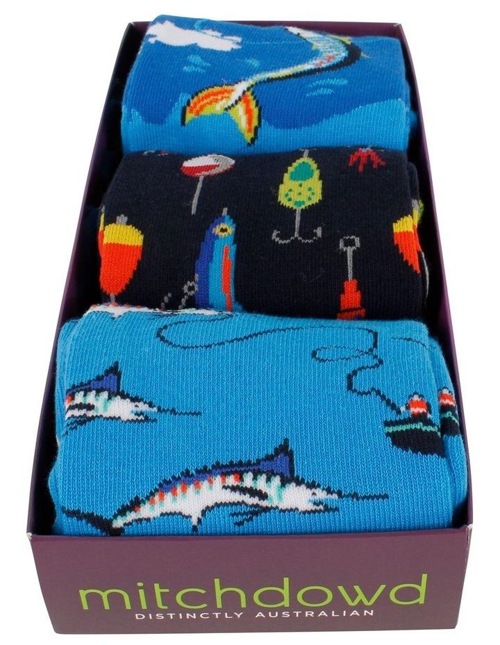 3 Pack Socks Gift Box - Fishing image 2