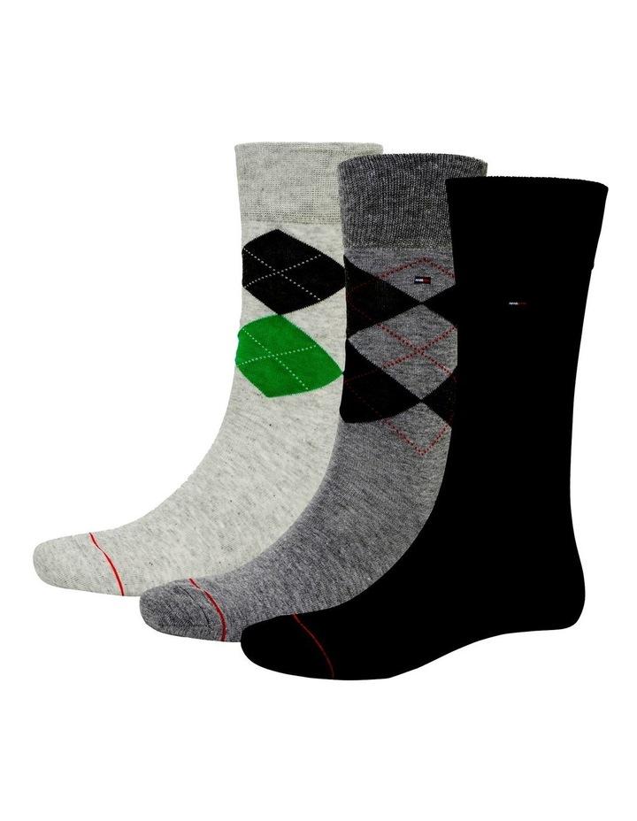 3 Pack Classic Tommy Argyle Crew Socks image 1