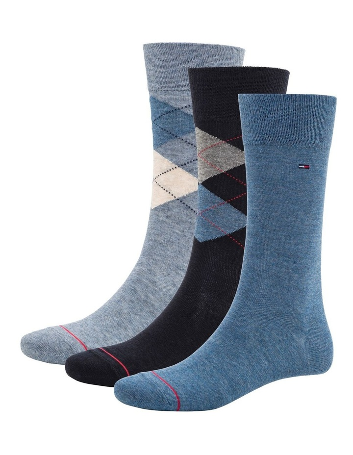 3 Pack Classic Tommy Argyle Crew Socks image 1
