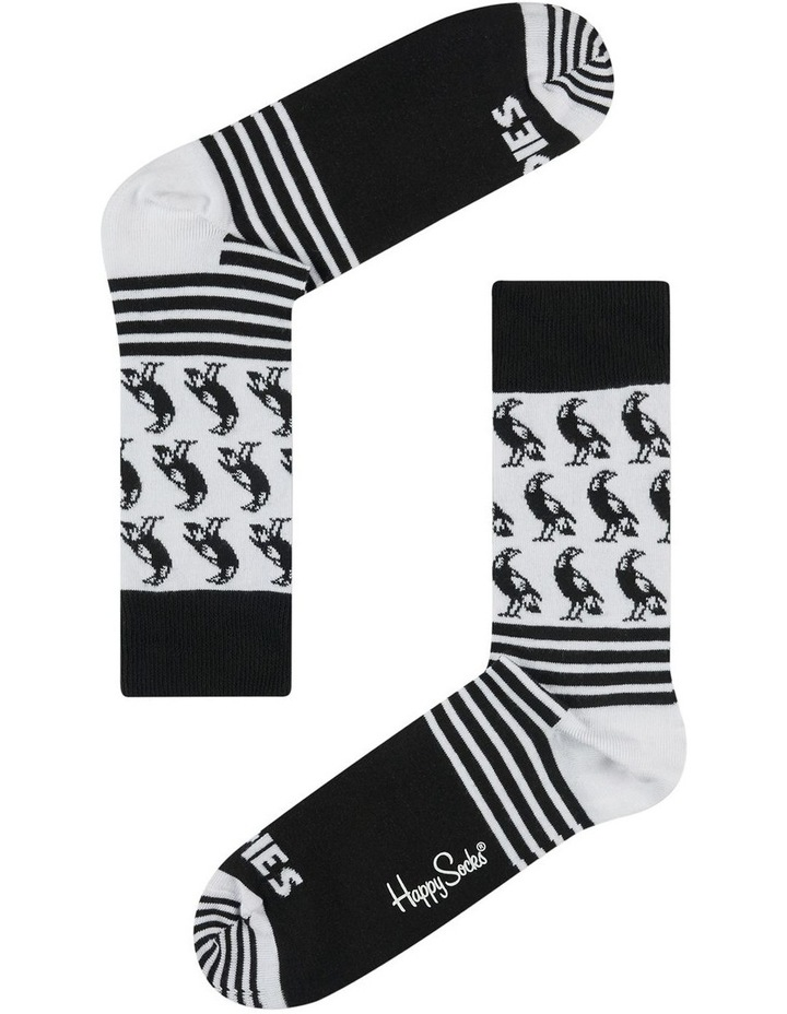 Collingwood AFL Stripes and Logo Sock image 1