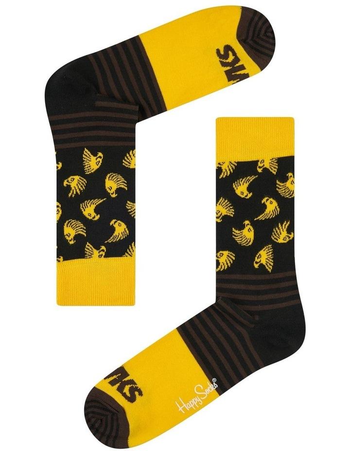 Hawthorn AFL Stripes and Logo Sock image 1
