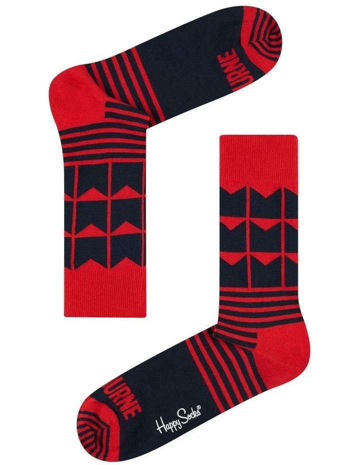 Melbourne AFL Stripes and Logo Sock image 1