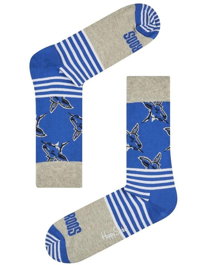North Melbourne AFL Stripes and Logo Sock image 1