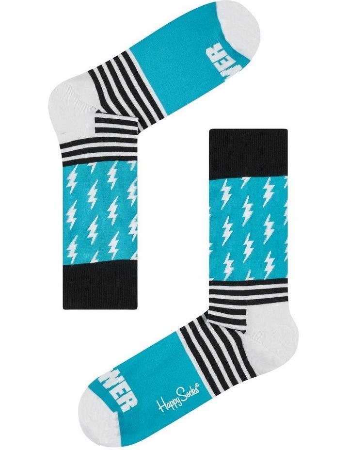 Port Adelaide AFL Stripes and Logo Sock image 1