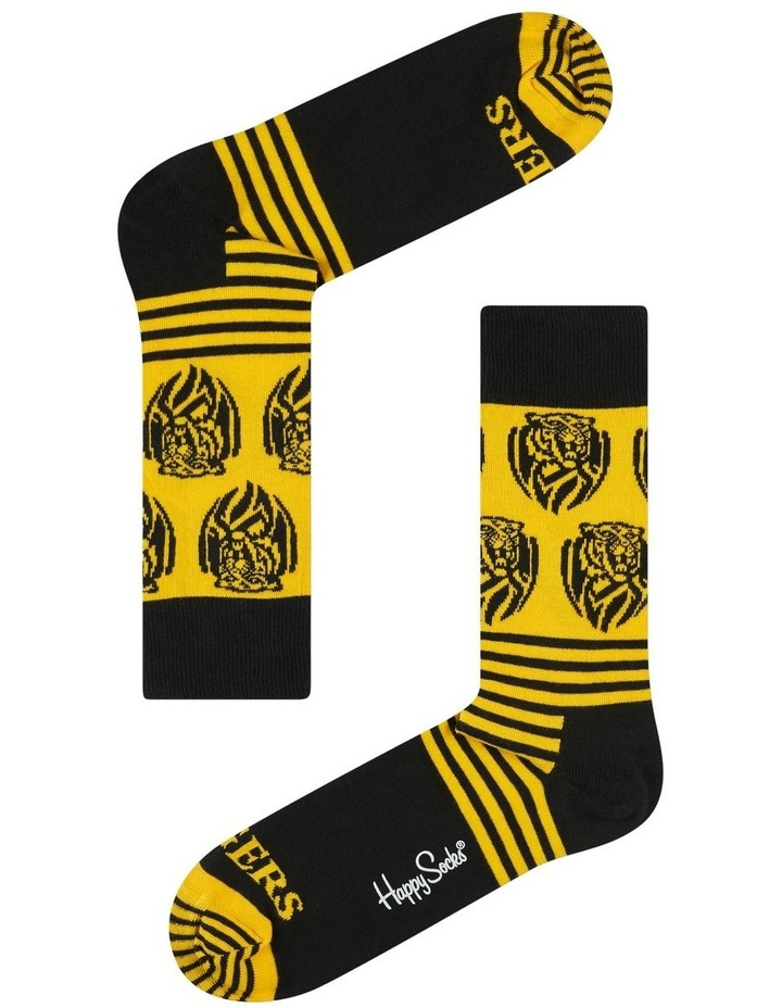 Richmond AFL Stripes and Logo Sock image 1