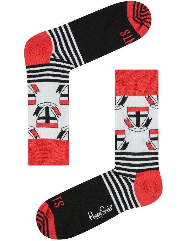 St Kilda AFL Stripes and Logo Sock image 1