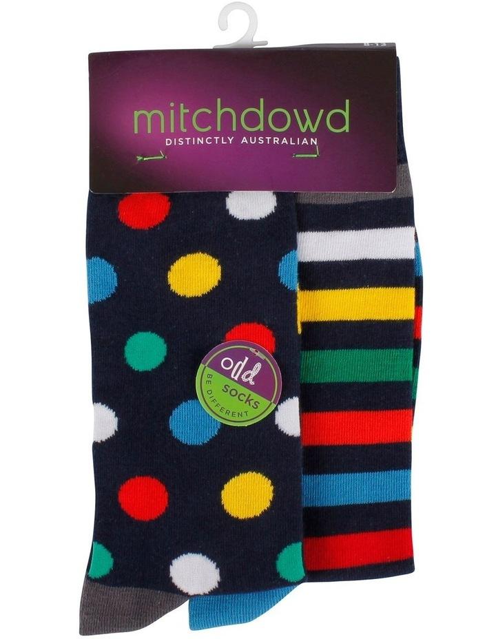 Spot Stripe Odd Sock image 2