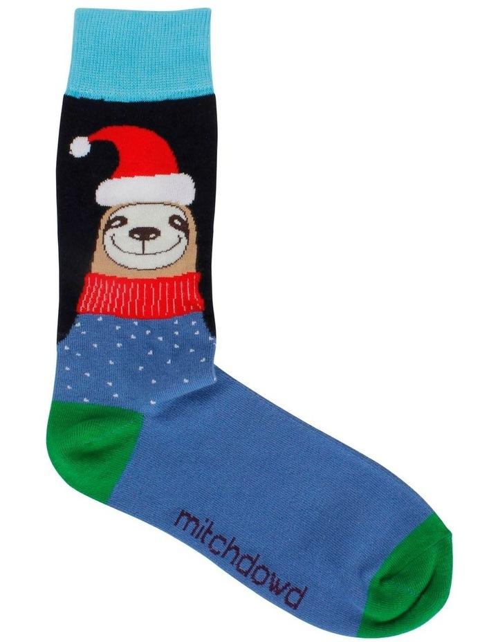 Sloth Santa Sock image 1