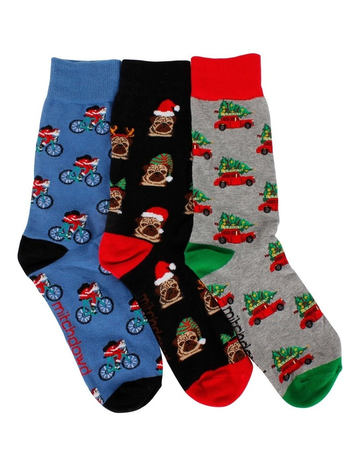 Christmas Holiday 3 Pack Socks Gift Box image 1