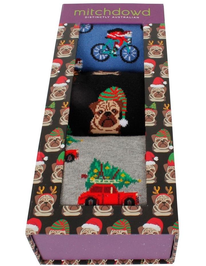 Christmas Holiday 3 Pack Socks Gift Box image 2