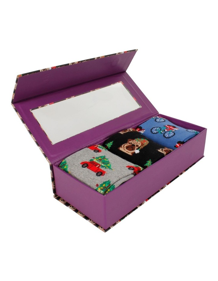 Christmas Holiday 3 Pack Socks Gift Box image 3