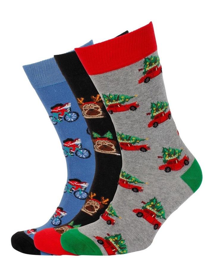 Christmas Holiday 3 Pack Socks Gift Box image 4