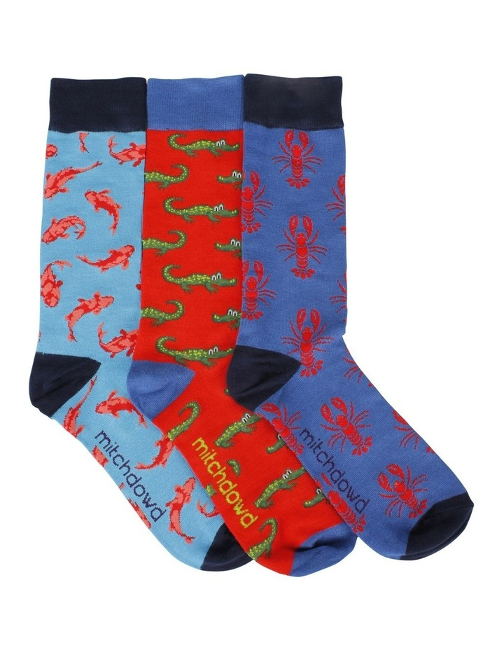 Critters 3 Pk Bamboo Socks Gift Box image 1