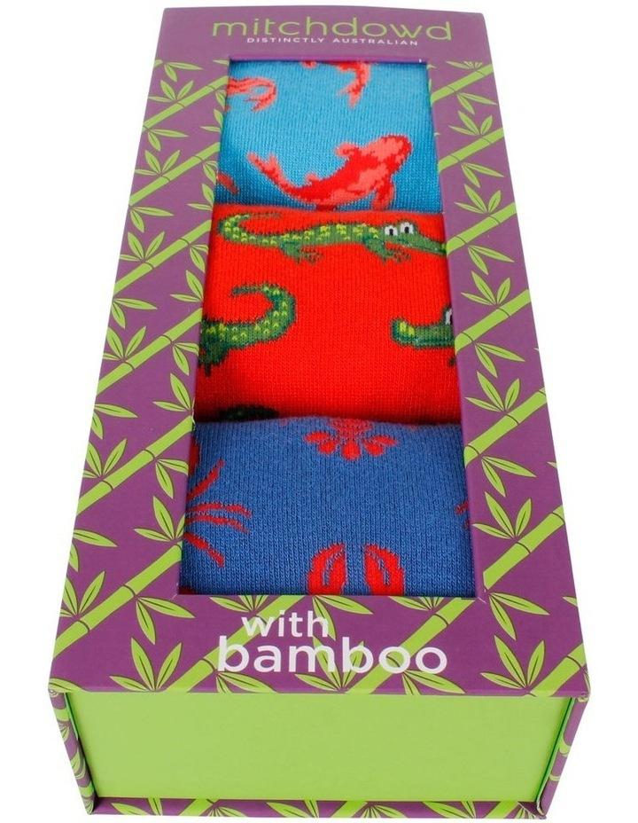 Critters 3 Pk Bamboo Socks Gift Box image 2