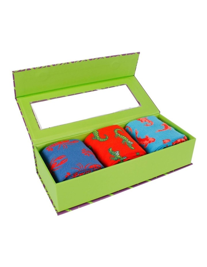 Critters 3 Pk Bamboo Socks Gift Box image 3