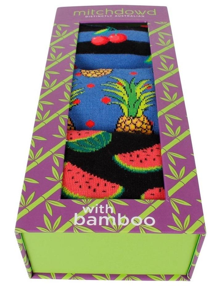 Paradise Fruit 3 Pack Bamboo Socks Gift Box image 2