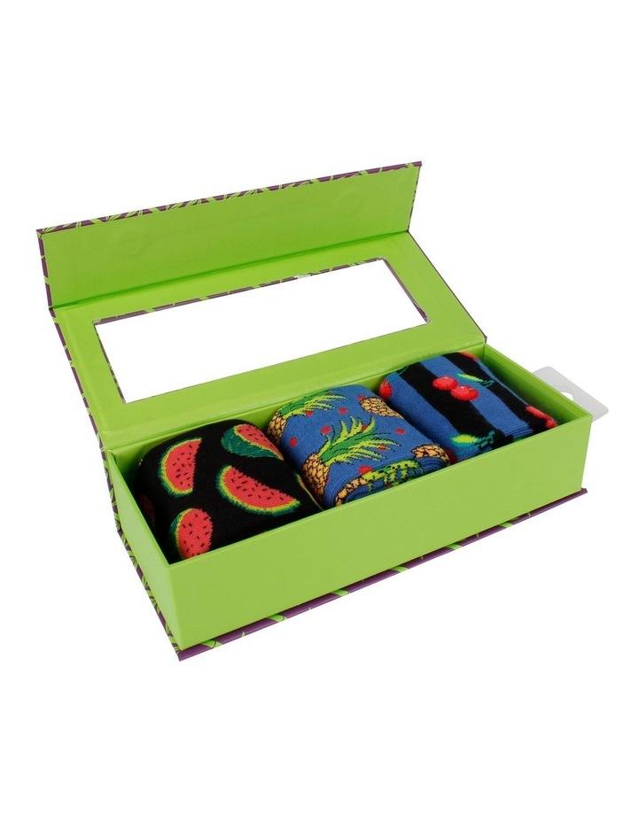 Paradise Fruit 3 Pack Bamboo Socks Gift Box image 3