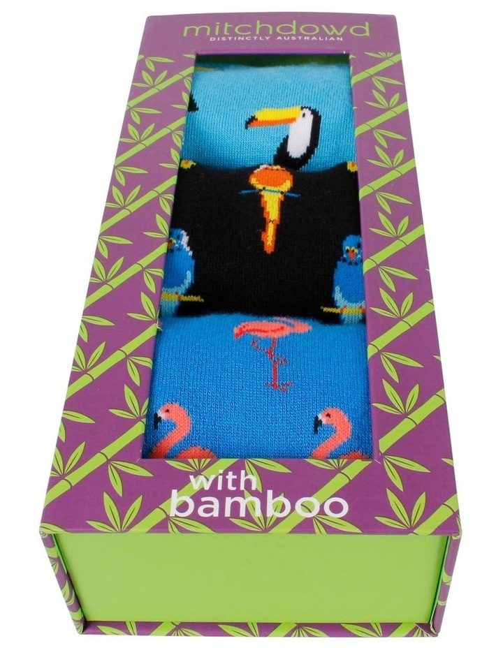All Over Birds 3 Pack Bamboo Socks Gift Box image 2