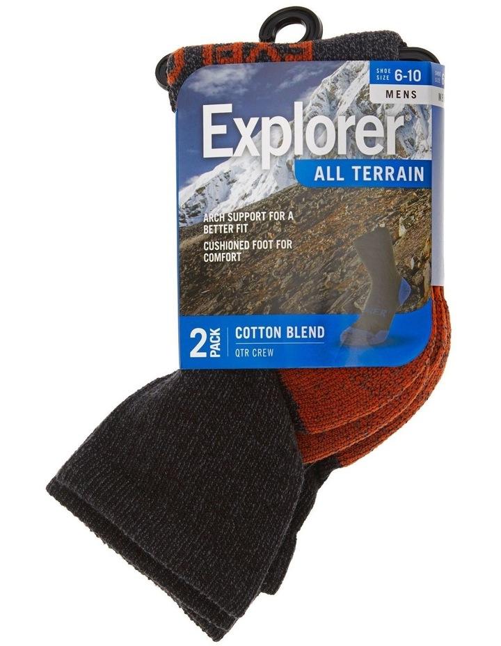 2 Pack All Terrain Quarter Crew Casual Socks image 2