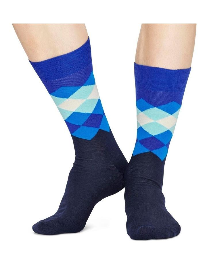 Faded Diamond Sock image 3