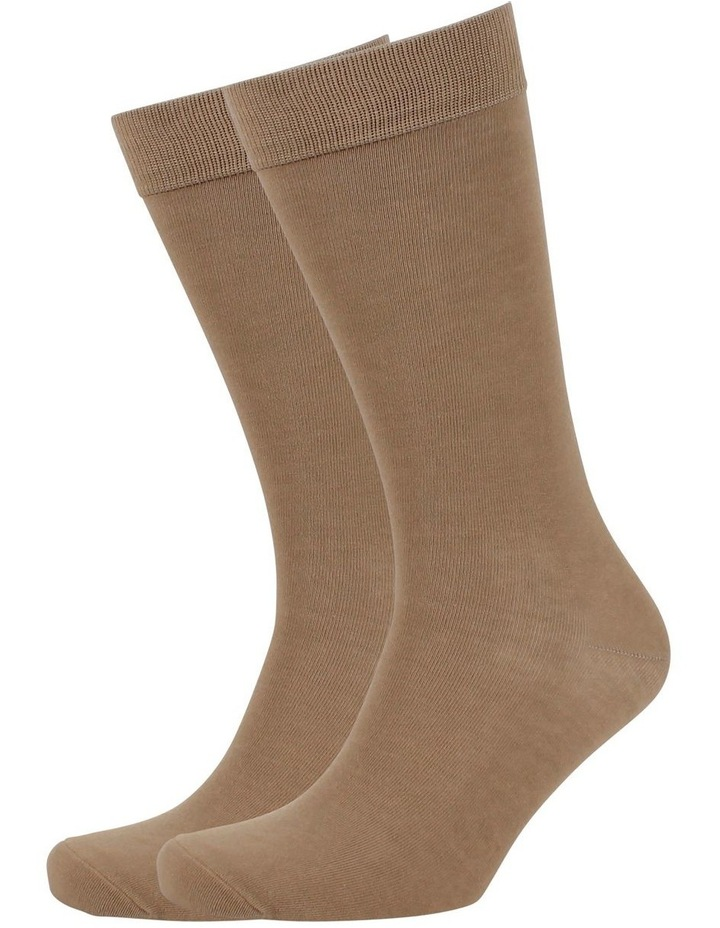 Men'S Plain Modal Business Socks image 1