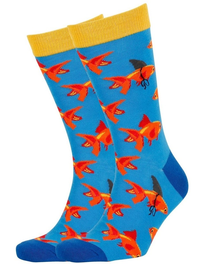 Ninja Cat & Goldfish 2 Pack Socks image 5