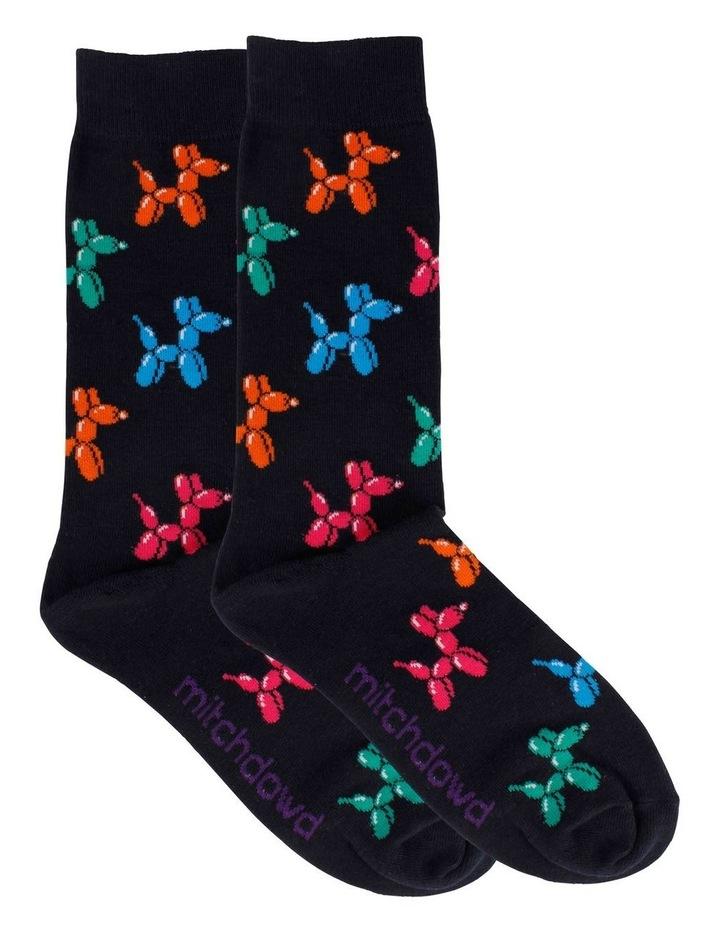 Balloon Dog & Stripe 2 Pack Socks image 2