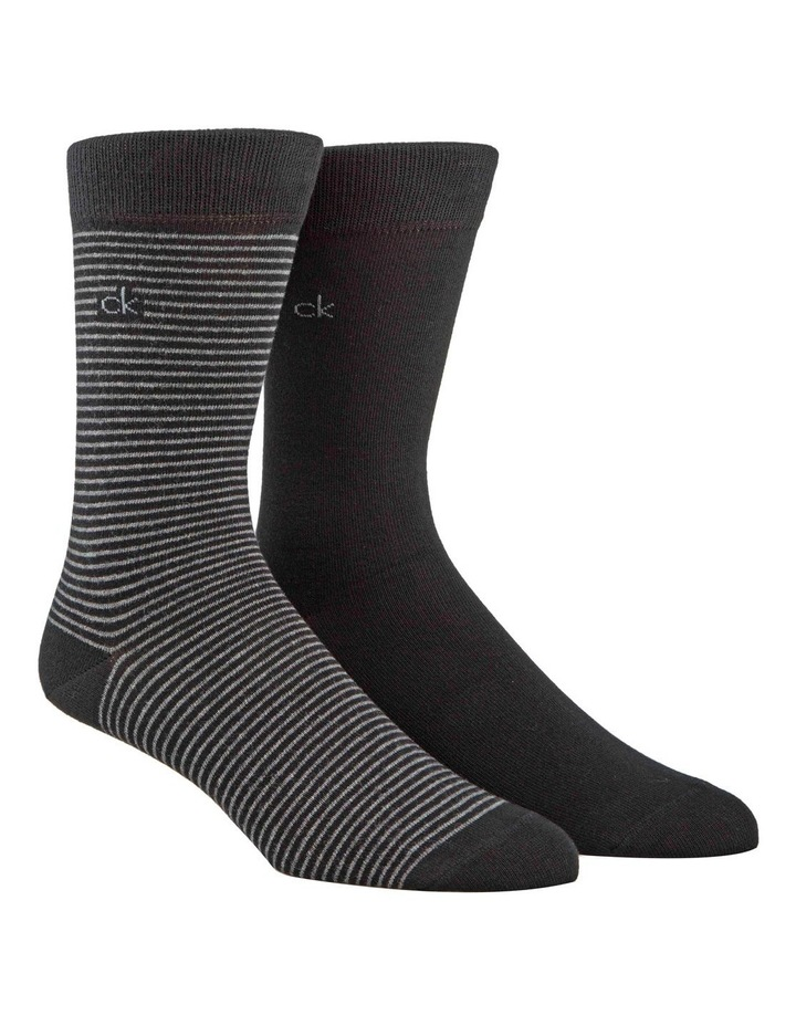 2 Pack Fine Stripe Socks image 1