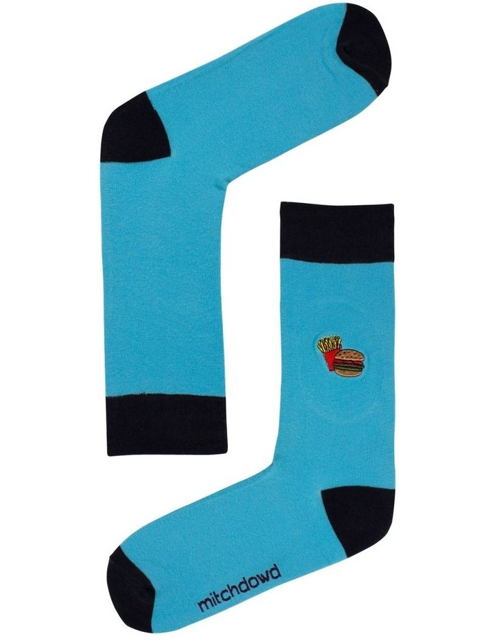Burger & Fries Embroidered Sock image 1