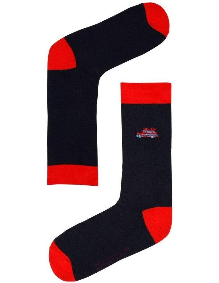Surf Wagon Embroidered Sock image 1