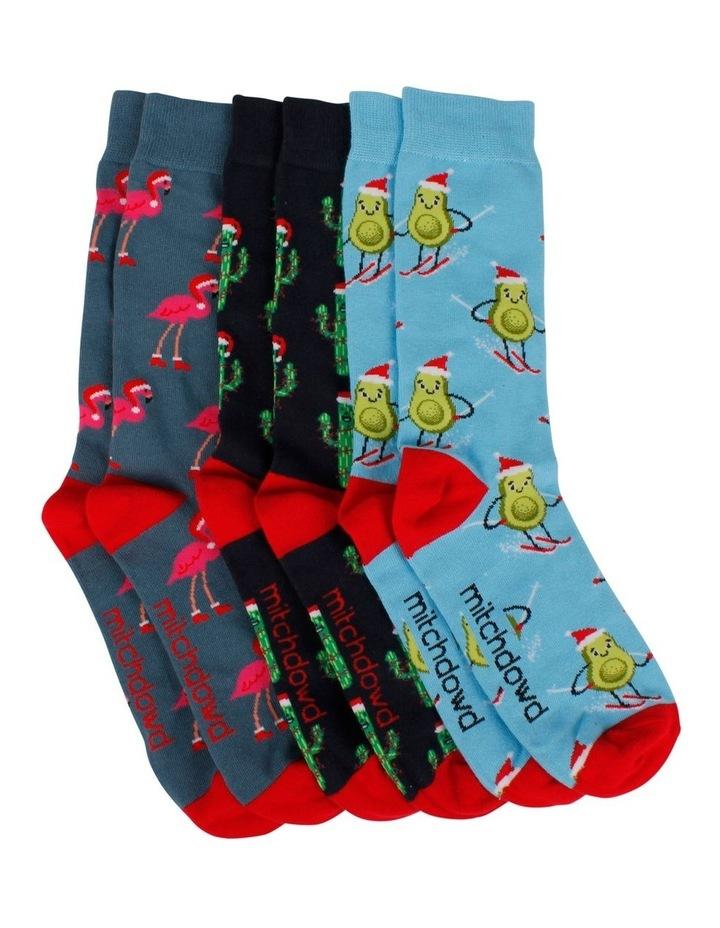 Christmas Fun 3pk Socks image 1