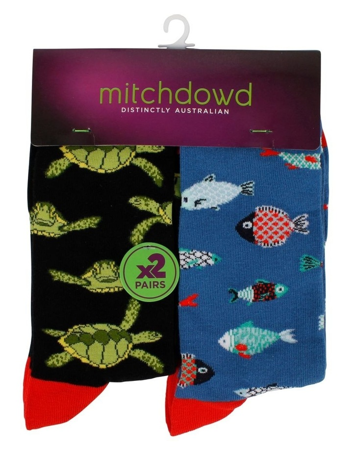Turtle & Fish 2 Pack Socks image 4