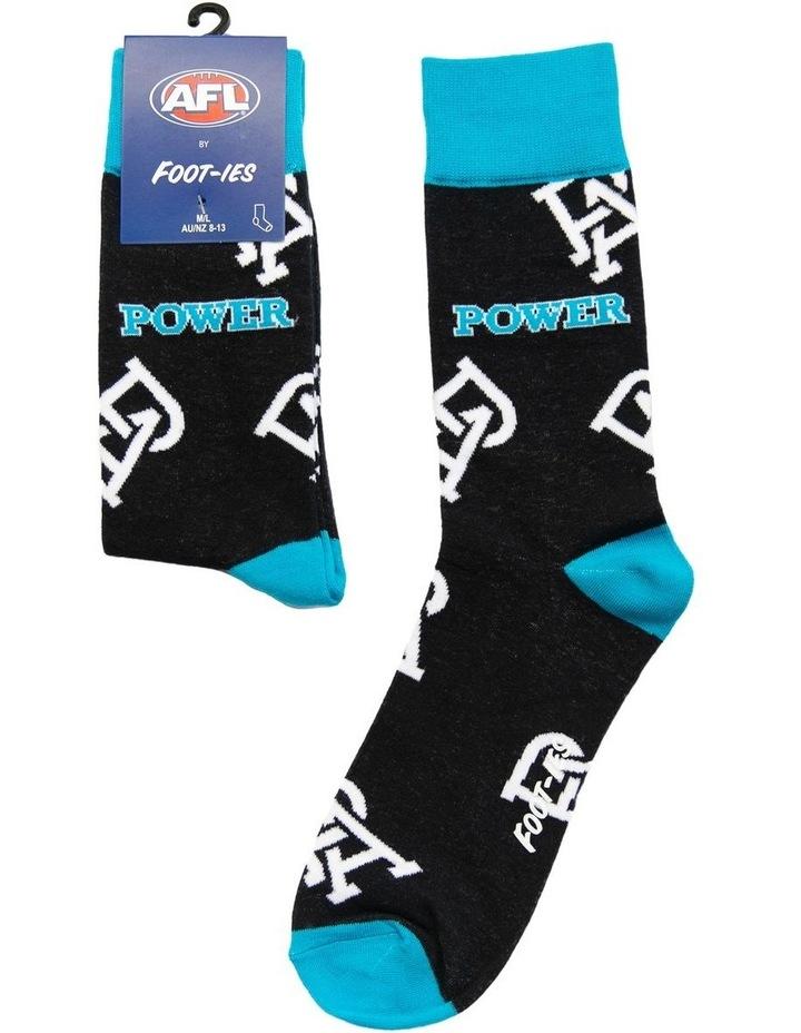 AFL Port Adelaide Large Logos Sock image 1